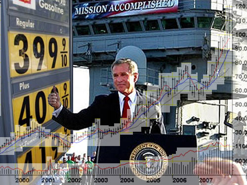 trillions dollars debt republican president george bush cronies mission accomplished