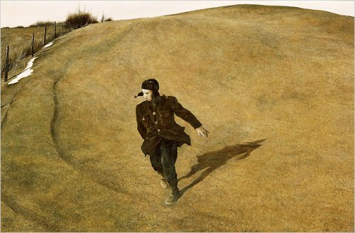 "Andrew Wyeth's ""Winter,"" 1946. (Andrew Wyeth/North Carolina Museum of Art)"