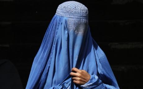 A woman wearing a traditional burqa Photo: REUTERS