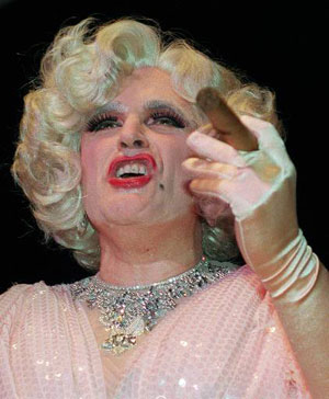 "Then-New York Mayor Rudolph Giuliani, dressed in drag for a satire of ""Victor/Victoria"" entitled ""Rudy Rudia."" It's almost hard to believe he wasn't able to win the Republican nomination for president. AP Photo / Joe DeMaria"