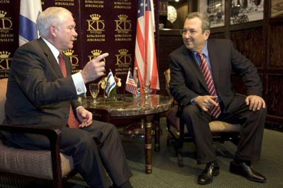 Robert M. Gates and Ehud Barak, Israeli Defense Minister, in Jerusalem last week