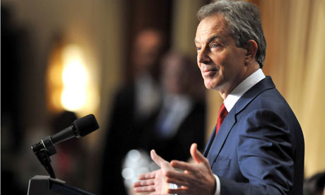 Tony Blair has emerged as a clear favourite to become the first permanent EU president. Photograph: Rex features