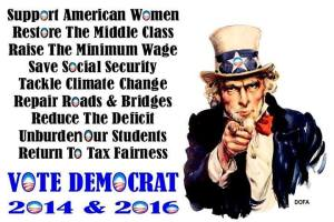 VOTE DEMOCRAT 2014 and 2016