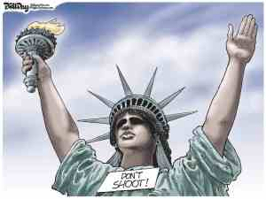 DONT SHOOT STATUE OF LIBERTY