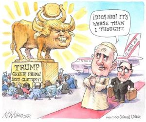 TRUMP CARTOON GREED LUST